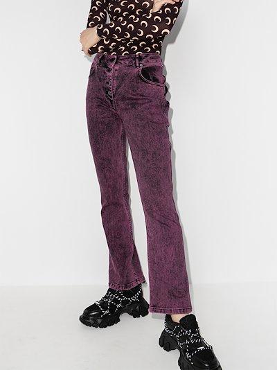 acid wash flared jeans