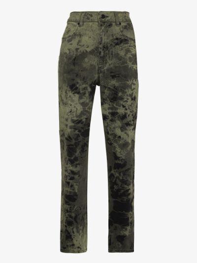 El Jeans tie-dye straight leg jeans