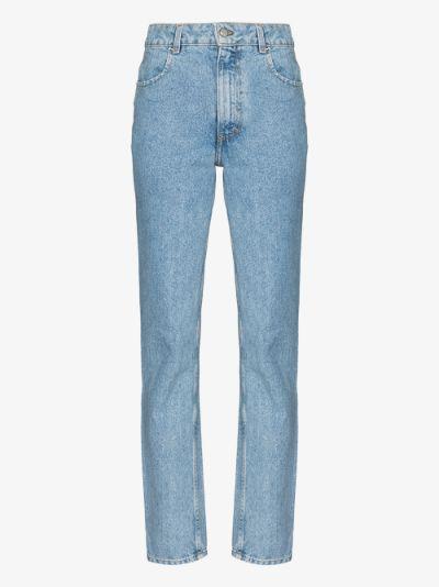 El straight leg jeans