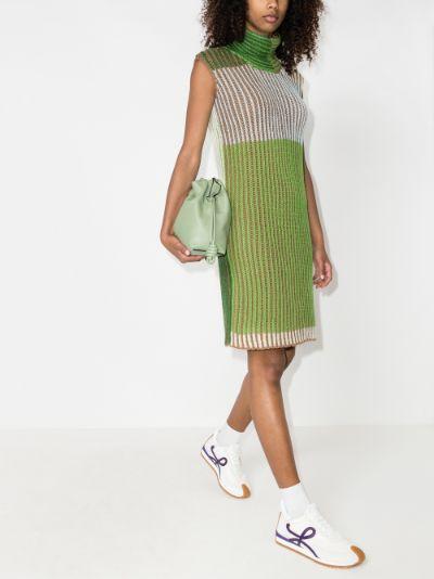 knitted turtleneck mini dress