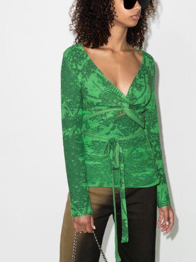 Poison knit wrap top