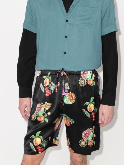 Hawaiian fruit silk shorts