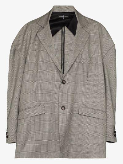 X Browns 50 checked Oversized blazer