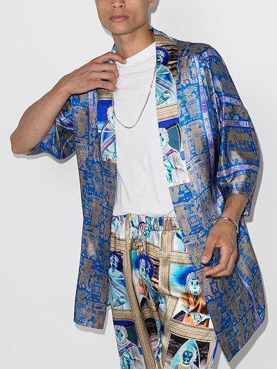 X Browns 50 printed silk jacket