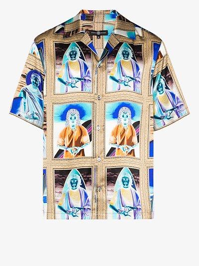 X Browns 50 saint print silk shirt