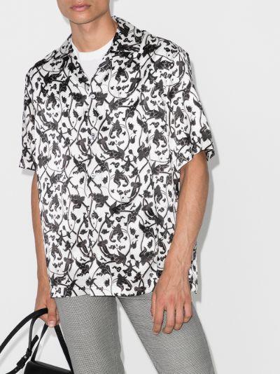 X Browns 50 vines print silk shirt