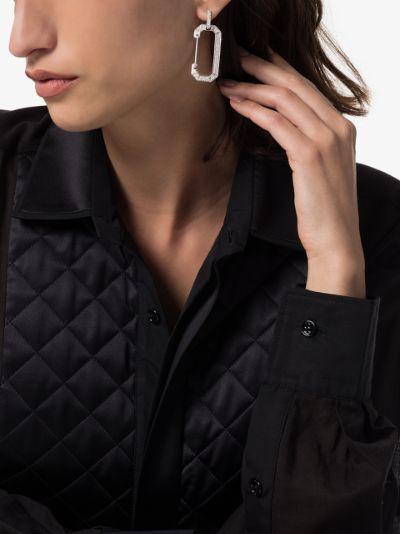 18K white gold Chiara diamond drop earring