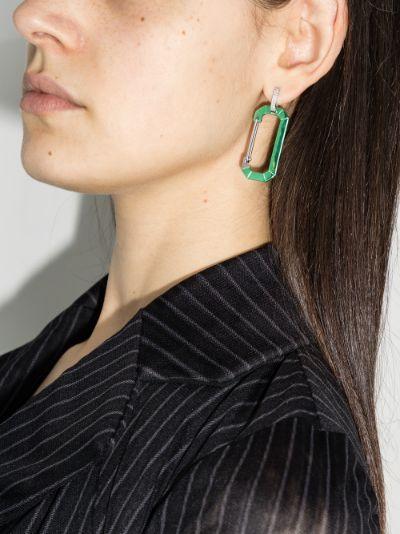18K white gold Chiara large diamond earring