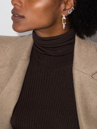 18K white gold Romy diamond ear cuff