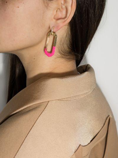 18K yellow gold Chiara large diamond earring