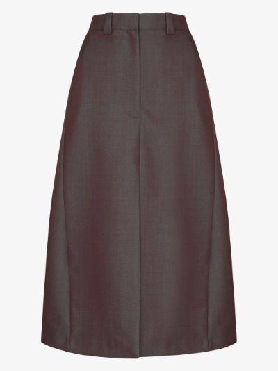 front slit A-line skirt