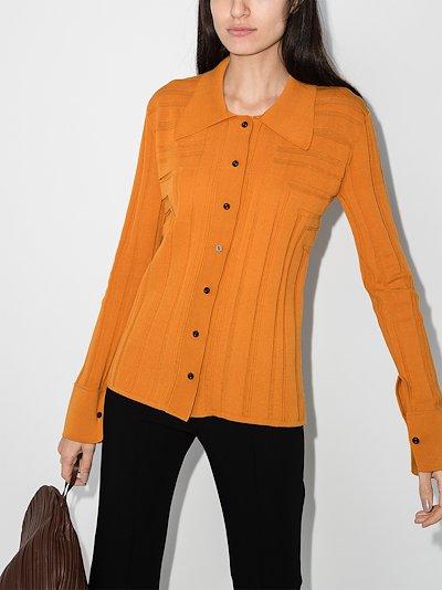 geometric knitted shirt