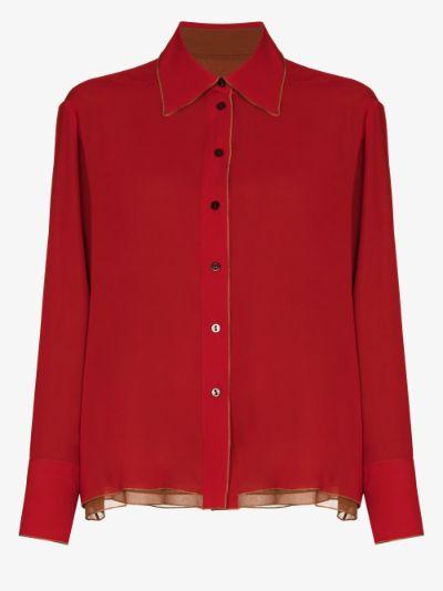 reversible silk shirt