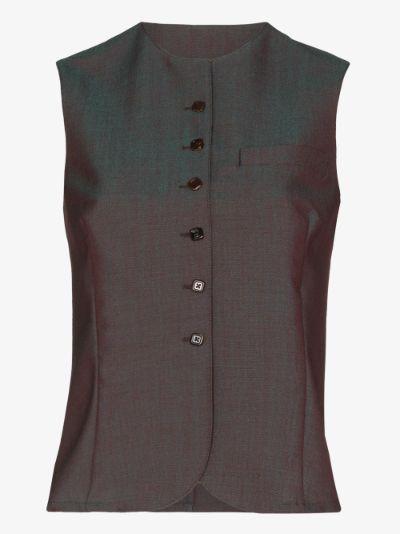 Tailored iridescent Waistcoat