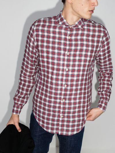 checked linen shirt