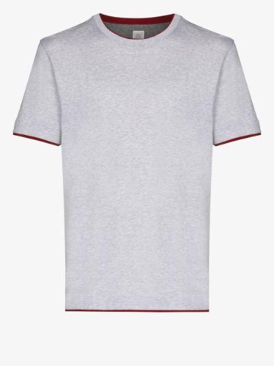 Contrast Trim Cotton T-Shirt