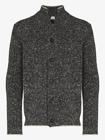 high neck cashmere wool cardigan