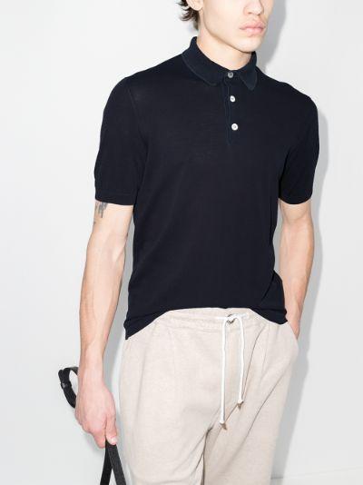 High Twist cotton polo shirt