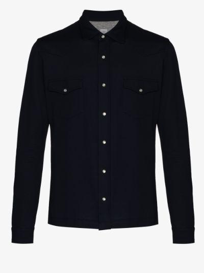 lightweight piqué shirt