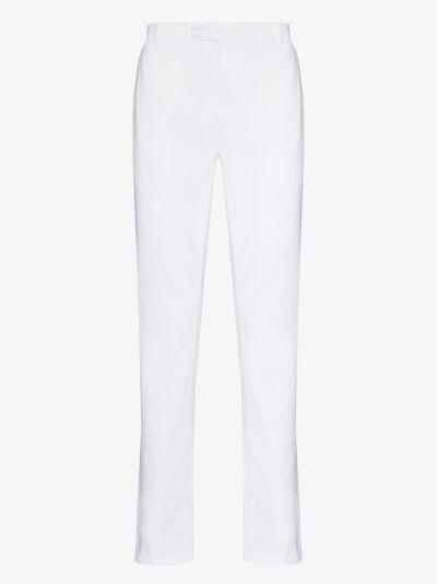 straight leg cotton trousers