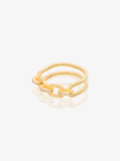 18K yellow gold Lamore diamond ring