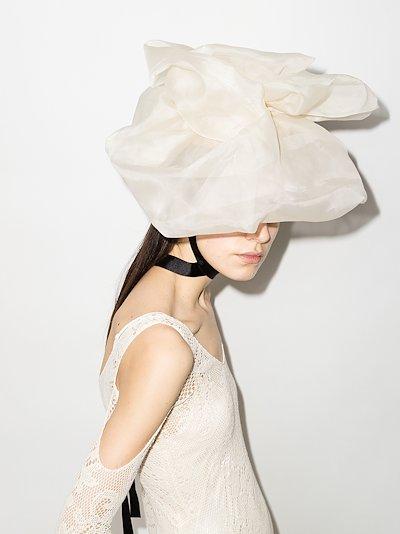 Neutral Flower Silk Fascinator Hat