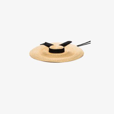 neutral Pamela straw hat