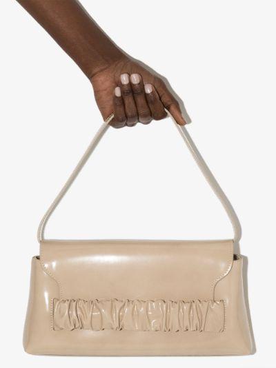 Neutral Chouchou patent leather shoulder bag