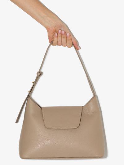 Neutral Kitten Leather Shoulder Bag