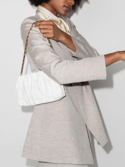 White Vague leather shoulder bag