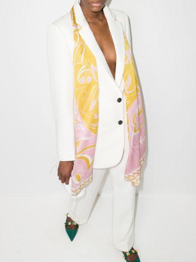 pink Dinamica Dégradé print silk scarf