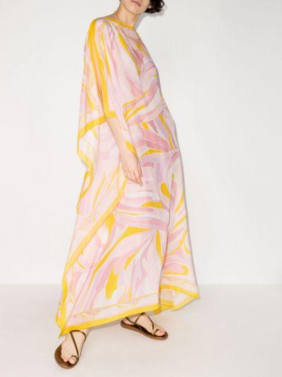 Vetrate print kaftan dress
