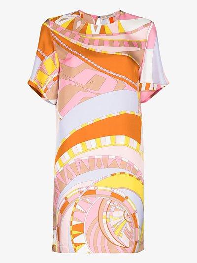 Wally print shift dress