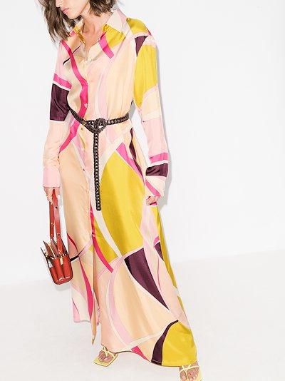 X Browns 50 Ellisse print silk shirt dress