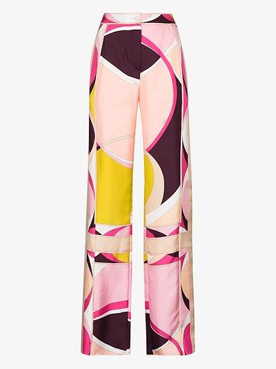 X Browns 50 Ellisse print silk trousers