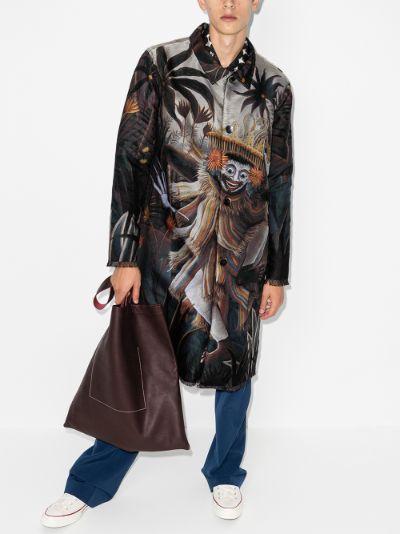 Jauk printed single-breasted coat