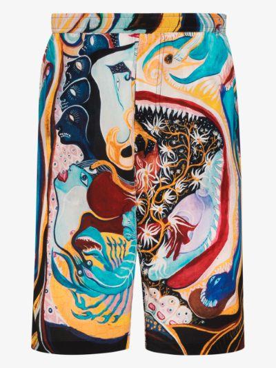 Turiya Printed silk Shorts