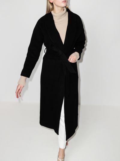 Houston virgin wool wrap coat
