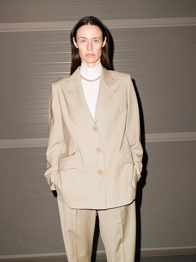 Marais single-breasted wool blazer