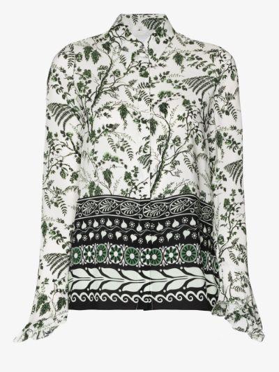 Alaric floral print silk shirt