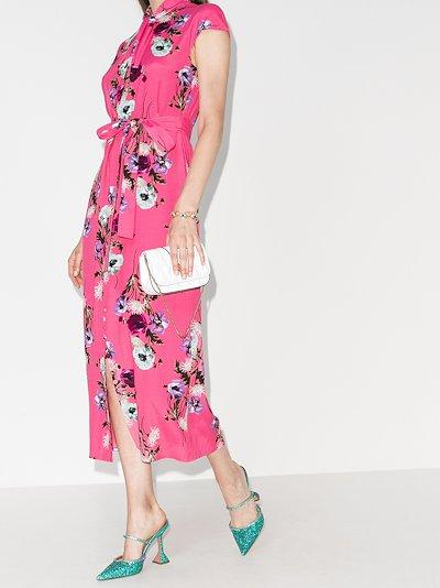 Finn floral print silk midi dress