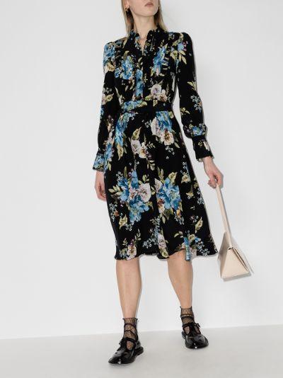 Gregory printed silk midi dress