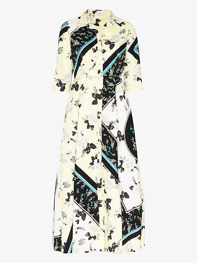 Kasia floral print cotton shirt dress