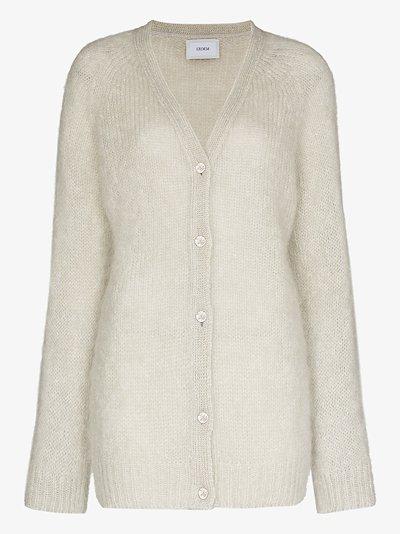 Marcilly crystal button cardigan