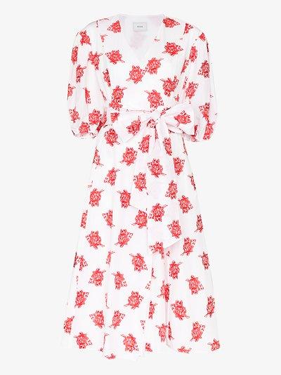 Marguerite floral cotton midi dress
