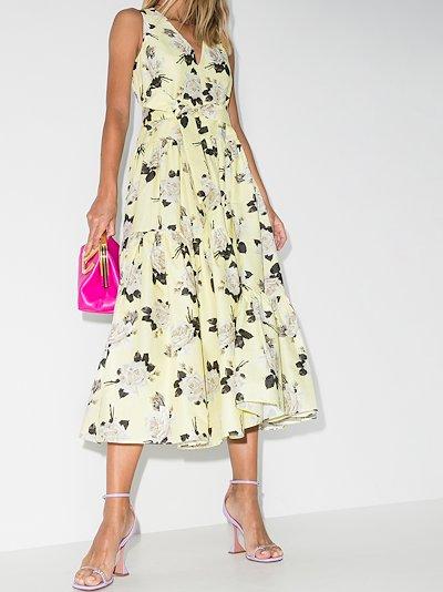 mimosa rosemont print cotton dress