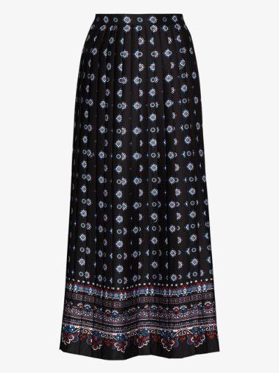 Nolana pleated midi skirt
