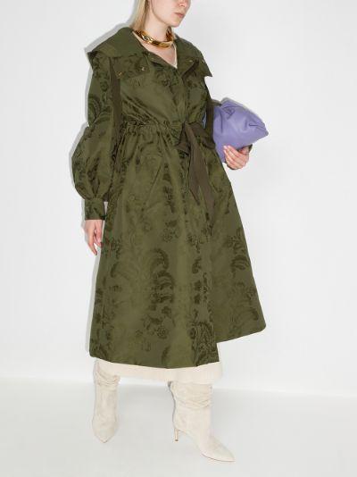 William floral jacquard belted coat