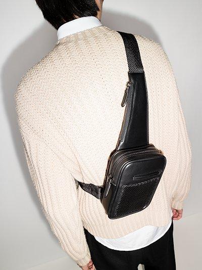 black Insta-Pack Pelletessuta leather cross body bag