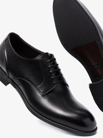 black Siena Flex leather Derby shoes